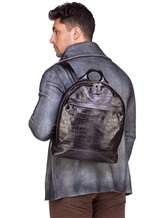 Рюкзак Santoni UIBBA1472 100% кожа Темно-серый Италия изображение 1