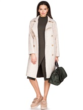 Пальто Stile Latino Napoli CDSIENA 90% альпака, 10% полиамид Бежевый Италия изображение 0