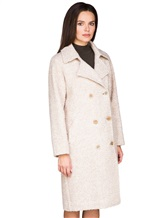 Пальто Stile Latino Napoli CDSIENA 90% альпака, 10% полиамид Бежевый Италия изображение 3
