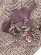 Шапка Inverni Firenze 1892 3497 80% кашемир, 16% вискоза, 4% полиэстер Бежевый Италия изображение 1