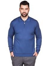 Поло Pashmere WU84481 60% шерсть, 30% шёлк, 10% кашемир Темно-синий Италия изображение 5