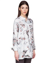 Блуза Re Vera 17182023-1 93% шелк 7% эластан Серо-голубой Китай изображение 2
