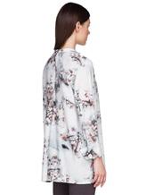 Блуза Re Vera 17182023-1 93% шелк 7% эластан Серо-голубой Китай изображение 3
