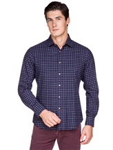 Рубашка Ingram SLSC/PRTL ML XT-5 100%хлопок Темно-синий Италия изображение 0