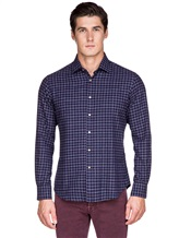Рубашка Ingram SLSC/PRTL ML XT-5 100%хлопок Темно-синий Италия изображение 1
