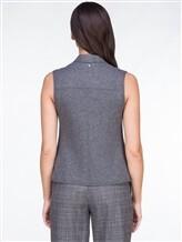 Жилет Lorena Antoniazzi LP3225J1 98% шерсть, 2% эластан Серый Италия изображение 4