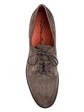 Ботинки Santoni WUUD56049 100% кожа Серо-коричневый Италия изображение 4