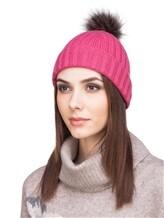 Шапка Peserico S36053F05B 70% шерсть, 20% шёлк, 10% кашемир Темно-розовый Италия изображение 0