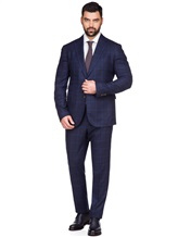Костюм Stile Latino Napoli AUALEX22B2 100% шерсть Темно-синий Италия изображение 0