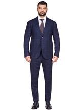 Костюм Stile Latino Napoli AUALEX22B2 100% шерсть Темно-синий Италия изображение 1
