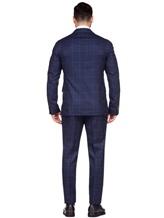 Костюм Stile Latino Napoli AUALEX22B2 100% шерсть Темно-синий Италия изображение 3