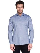 Рубашка Ingram SLSC/PRTL ML XT-5 100%хлопок Серо-голубой Италия изображение 1