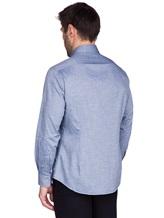 Рубашка Ingram SLSC/PRTL ML XT-5 100%хлопок Серо-голубой Италия изображение 3