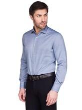 Рубашка Ingram SLSC/PRTL ML XT-5 100%хлопок Серо-голубой Италия изображение 0