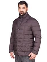 Куртка Herno PI0403U 95% полиамид, 5% полиуретан Темно-коричневый Румыния изображение 3