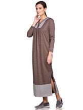 Платье EREDA E251500 100% шерсть Коричневый Италия изображение 0