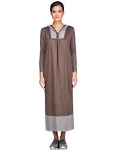 Платье EREDA E251500 100% шерсть Коричневый Италия изображение 1
