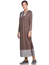 Платье EREDA E251500 100% шерсть Коричневый Италия изображение 2