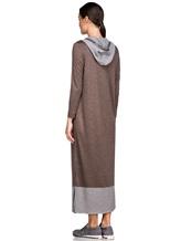 Платье EREDA E251500 100% шерсть Коричневый Италия изображение 3