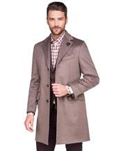 Пальто Lardini IE23109AE 100%кашемир Темно-бежевый Италия изображение 0