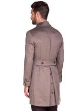 Пальто Lardini IE23109AE 100%кашемир Темно-бежевый Италия изображение 5