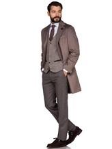 Пальто Lardini IE23109AE 100%кашемир Темно-бежевый Италия изображение 1