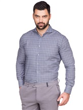 Рубашка LARUSMIANI 024347ABB 100%хлопок Сине-белый Италия изображение 0