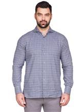 Рубашка LARUSMIANI 024347ABB 100%хлопок Сине-белый Италия изображение 1