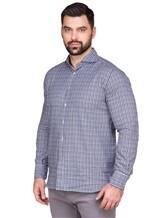 Рубашка LARUSMIANI 024347ABB 100%хлопок Сине-белый Италия изображение 2