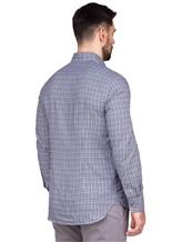 Рубашка LARUSMIANI 024347ABB 100%хлопок Сине-белый Италия изображение 3