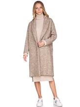 Пальто ERIKA CAVALLINI P7A101 52% хлопок, 14% акрил, 14% полиэстер, 12% шерсть, 8% альпака Бежевый Италия изображение 0