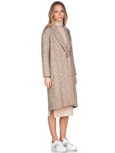 Пальто ERIKA CAVALLINI P7A101 52% хлопок, 14% акрил, 14% полиэстер, 12% шерсть, 8% альпака Бежевый Италия изображение 2