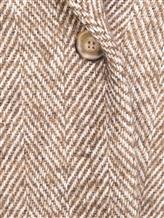 Пальто ERIKA CAVALLINI P7A101 52% хлопок, 14% акрил, 14% полиэстер, 12% шерсть, 8% альпака Бежевый Италия изображение 4