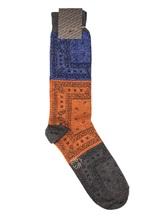Носки ALTO Milano 17AIAM1159UC 70% хлопок, 25% полиамид, 5% полиэстер Сине-оранжевый Италия изображение 0
