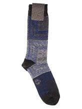 Носки ALTO Milano 17AIAM1159UC 70% хлопок, 25% полиамид, 5% полиэстер Сине-серый Италия изображение 0
