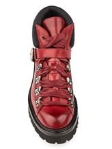 Ботинки Santoni WTSK56823 100% кожа Бордовый Италия изображение 4