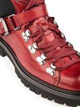 Ботинки Santoni WTSK56823 100% кожа Бордовый Италия изображение 5