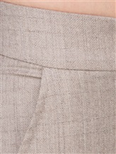 Брюки Peserico P04616 94% шерсть, 4% полиимид, 2% эластан Светло-бежевый Италия изображение 4