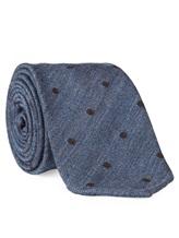Галстук Stile Latino Napoli 148/7.5 91% шерсть, 9% шёлк Серо-голубой Италия изображение 1