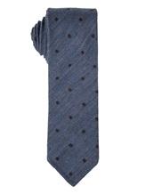 Галстук Stile Latino Napoli 148/7.5 91% шерсть, 9% шёлк Серо-голубой Италия изображение 0