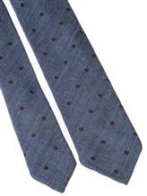 Галстук Stile Latino Napoli 148/7.5 91% шерсть, 9% шёлк Серо-голубой Италия изображение 2