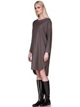 Платье EREDA 17WEDDR011 94% шерсть, 3% полиамид, 3% эластан Серо-коричневый Италия изображение 1