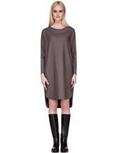 Платье EREDA 17WEDDR011 94% шерсть, 3% полиамид, 3% эластан Серо-коричневый Италия изображение 2