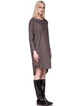 Платье EREDA 17WEDDR011 94% шерсть, 3% полиамид, 3% эластан Серо-коричневый Италия изображение 3
