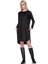 Платье EREDA 17WEDDR011 94% шерсть, 3% полиамид, 3% эластан Антрацит Италия изображение 0
