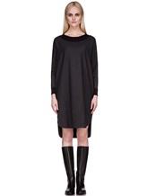 Платье EREDA 17WEDDR011 94% шерсть, 3% полиамид, 3% эластан Антрацит Италия изображение 1