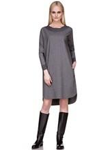 Платье EREDA 17WEDDR011 94% шерсть, 3% полиамид, 3% эластан Серый Италия изображение 0