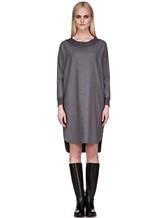 Платье EREDA 17WEDDR011 94% шерсть, 3% полиамид, 3% эластан Серый Италия изображение 1