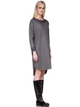 Платье EREDA 17WEDDR011 94% шерсть, 3% полиамид, 3% эластан Серый Италия изображение 2