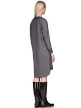 Платье EREDA 17WEDDR011 94% шерсть, 3% полиамид, 3% эластан Серый Италия изображение 3